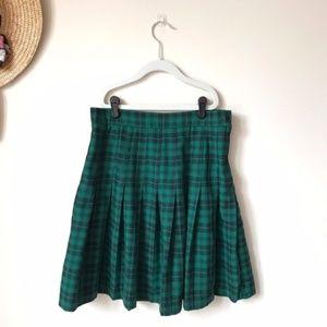 Vintage Plaid School Girl Pleated Tennis Skirt W28